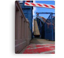 Caution! Incline! Canvas Print