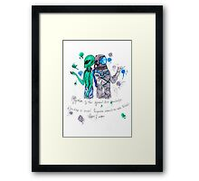 Alien and Astronaut Framed Print