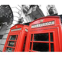 Red London Photographic Print