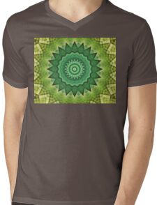 Mandala Green Life Mens V-Neck T-Shirt