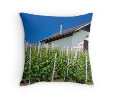 Vineyard slope in Slovenia Throw Pillow