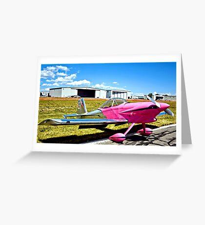 Pink Panther Aircraft Greeting Card