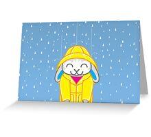 Binky-ing in the Rain Greeting Card