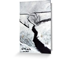 Black and White Study Greeting Card