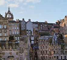 Tenements (Apartments) Of Edinburgh City, Scotland, UK by Sandra Cockayne