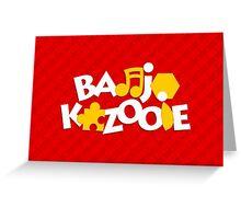 Bear & Bird - Red Greeting Card