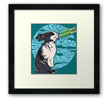 Popsicle Bunny Framed Print