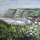 Looking Across to Staithes from Cowbar by Sue Nichol
