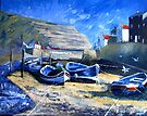 High Summer, Staithes Beck by Sue Nichol