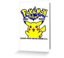 Pokemon Yellow Greeting Card