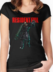 Resident Evil: Nemesis  Women's Fitted Scoop T-Shirt
