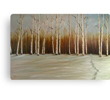 """Footprints in the Snow 36""""x24"""" - Oil Canvas Print"""