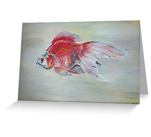 Ryukin Goldfish Greeting Card