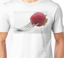 Strawberry on a Fork Unisex T-Shirt