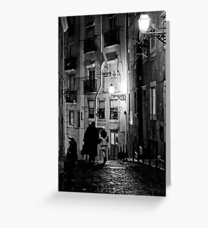 Little dark street Greeting Card