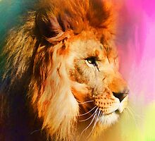 Colorful Expressions Lion by Jai Johnson