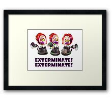 Splatoon! EXTERMINATE, EXTERMINATE! Octobot Framed Print