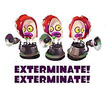 Splatoon! EXTERMINATE, EXTERMINATE! Octobot Photographic Print