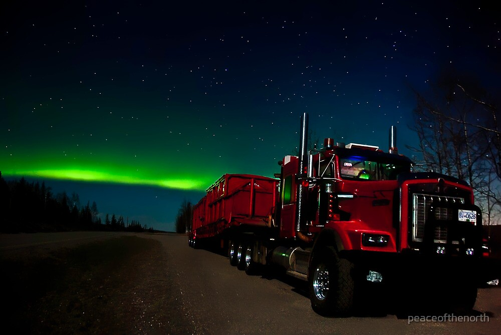 Big Red and the Auroras by peaceofthenorth