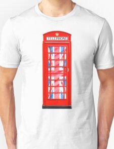 Thoroughly British Style - Red Phone Box & Union Jack Unisex T-Shirt