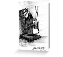 Kim the Guitarist Greeting Card