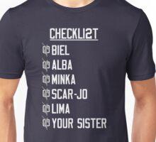 Yeah Jeets - Checklist Unisex T-Shirt