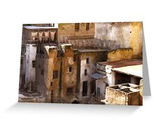 tanneries of fez Greeting Card