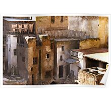 tanneries of fez Poster