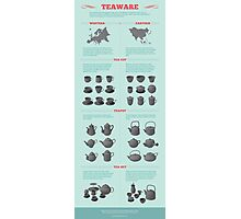 Teaware Infographic Photographic Print