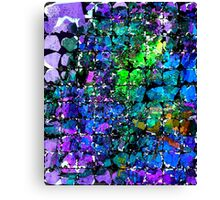 Violet Blue Blocks Canvas Print