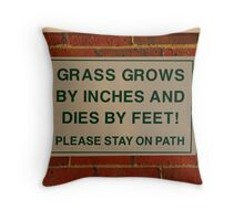 Grass grows Throw Pillow