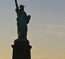 Lady Liberty Twilight by David Stegmeir