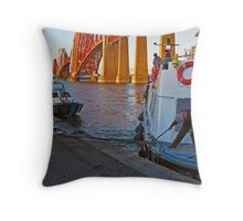 'Maid of the Forth' landing at South Queensferry Throw Pillow