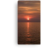 Sunset over Pula Canvas Print
