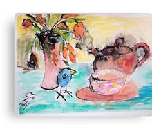 Scoota- Time for tea Canvas Print