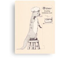 Creating delicious food - Otter - Oldlace Canvas Print