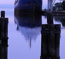 Steel Ship- Owen Sound Harbour by Les Wazny