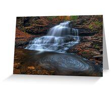 Onondaga Falls, Ricketts Glen State Park Greeting Card