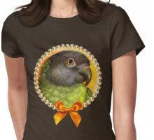 Senegal parrot realistic painting Womens Fitted T-Shirt