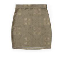 Checker Plate Gold Mini Skirt