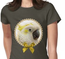 Sulfur Crested Cockatoo realistic painting Womens Fitted T-Shirt