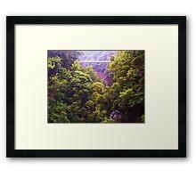 ITHACA NEW YORK SWINGING BRIDGE Framed Print
