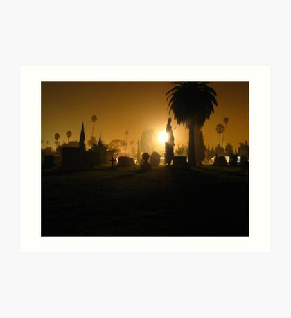 Midnight at the Hollywood Forever Cemetery Art Print
