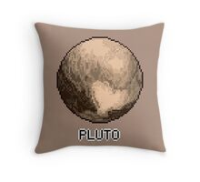 Pixel Planet - Pluto Throw Pillow