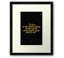 """""""To live is the rarest thing in the world. Most people exist, that is all. - Oscar Wilde Framed Print"""