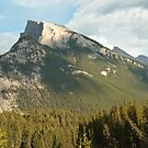 Mountain Peak Overlooking Banff by Roger Bernabo