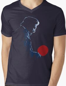 Johnny Cash Red Paddle Mens V-Neck T-Shirt