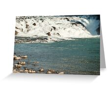 Banff Waterfalls Greeting Card