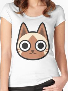 AIRUU / FELYNE ANIMAL CROSSING Women's Fitted Scoop T-Shirt