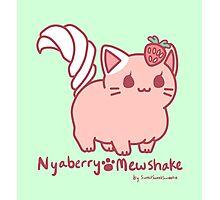 Sweet Treat Kitties - Nyaberry Mewshake Photographic Print